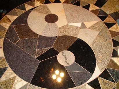 We built this mosaic from scratch to the customer's design, each piece cut and installed by hand.
